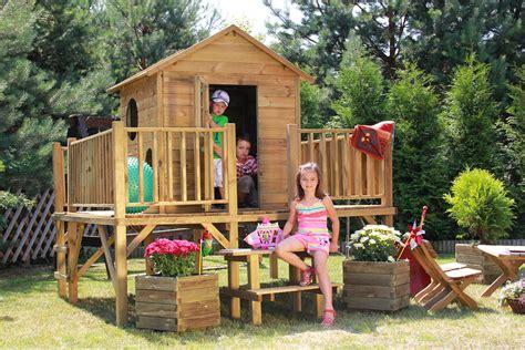 Kinderspielhaus Holz Garten