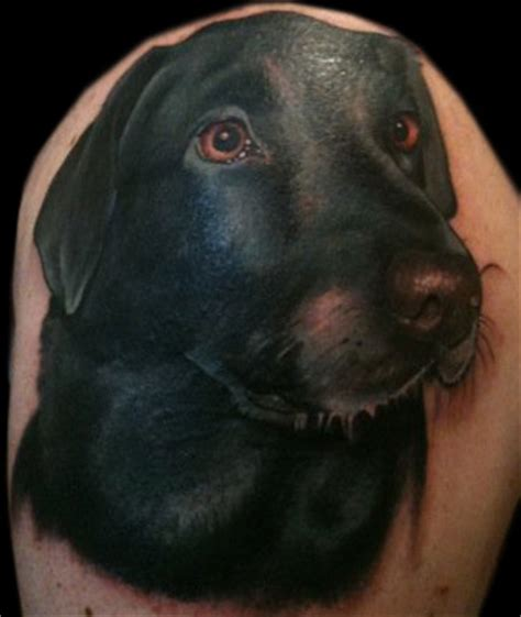 black lab tattoo black labrador tattoos pictures to pin on