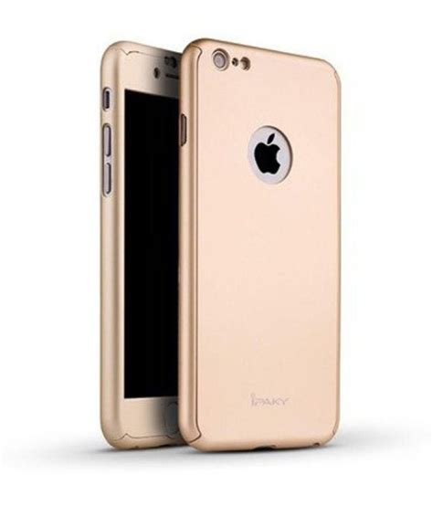 Promo Ipaky Iphone 6 47 Iphone 6 6s Diskon ipaky back cover for iphone 6 plus 6s plus 360 degree gold plain back covers at
