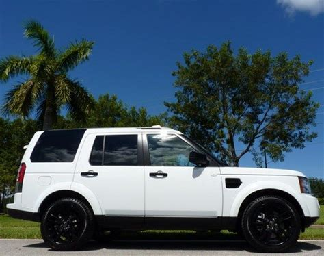 land rover lr4 blacked out 2013 land rover lr4 fuji white w black rims fours