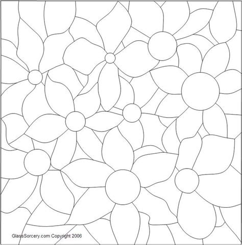flower pattern glass 30 best stained glass patterns images on pinterest