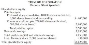 Balance Sheet Exle Stockholders Equity by Solved The Stockholders Equity Section Of Traylor