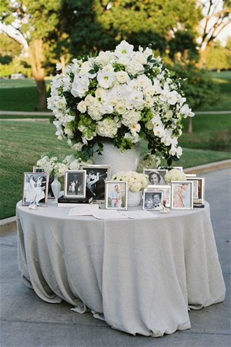 25 best ideas about wedding memory table on