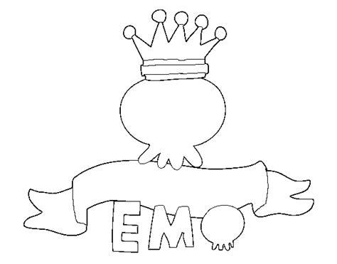imagenes de emo love para dibujar dibujo de love emo para colorear dibujos net