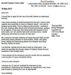 aircraft cleaner cover letter example forums learnist org