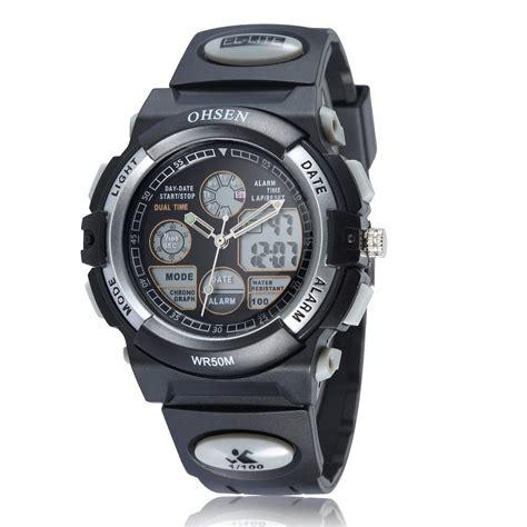 Ohsen Waterproof Quartz Digital Sport Ad0926 1 ohsen waterproof quartz digital sport ad1501 1 black silver jakartanotebook