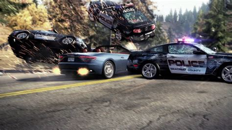 battle bounce police chase cars review in need for speed pursuit bomb