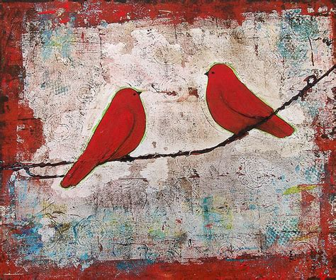 Red Bird On A Wire Border » Home Design 2017