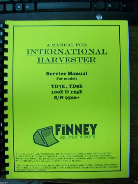 international ih crawler dozer loader tde tde   service shop manual  finney