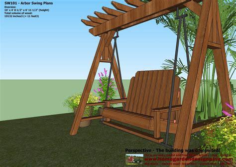 Garden Arbor Construction Home Garden Plans Sw101 Arbor Swing Plans Construction