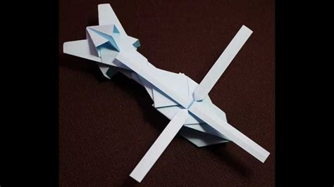 Helicopter With Paper - origami helicopter