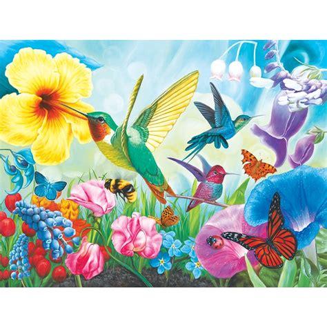 hummingbird garden 1000 piece puzzle 4895145411608