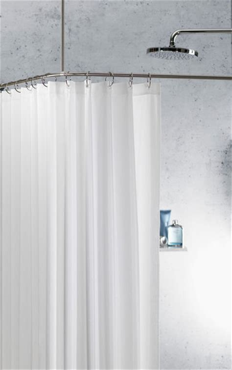 angled shower curtain rod spirella slim shower curtain angled rod stainless