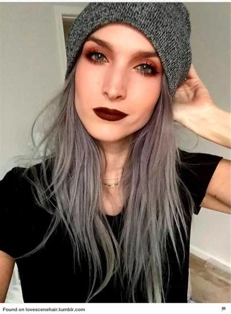 gray hair on young women 109 best granny hair images on pinterest colourful hair