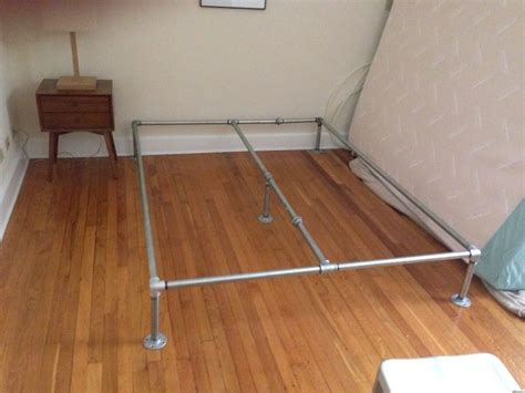 pipe bed frame i just made my own bed frame out of galvanized plumbing