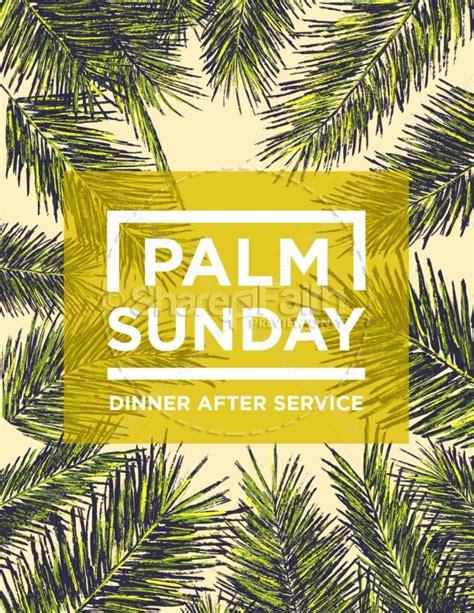 palm sunday palm branches flyer template flyer templates