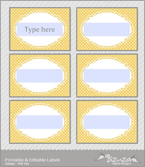 printable buffet labels 8 best images of blank printable candy buffet labels