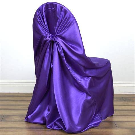 purple folding chair covers purple universal satin chair covers efavormart