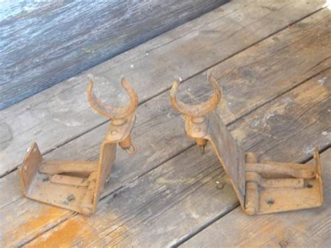 folding rowboat pair of rare antique folding rowboat oarlocks for hunting