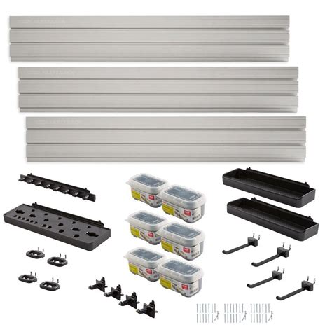 Rubbermaid Garage Shelving Kit Rubbermaid Fasttrack Garage Wall Panel Starter Kit 23