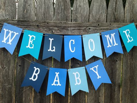 Baby Boy Welcome Home Decorations Welcome Baby Banner Welcome Baby Sign Baby Boy Shower