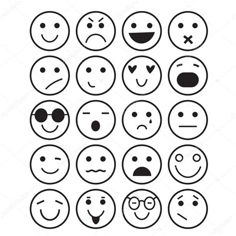 imagenes de caritas sentimentales iconos de caritas diferentes emociones vector de stock