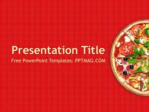 free pizza powerpoint template pptmag