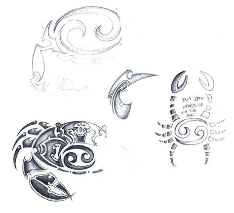 cancer sign tribal tattoo cancer zodiac sign tribal sketch by elenoosh on