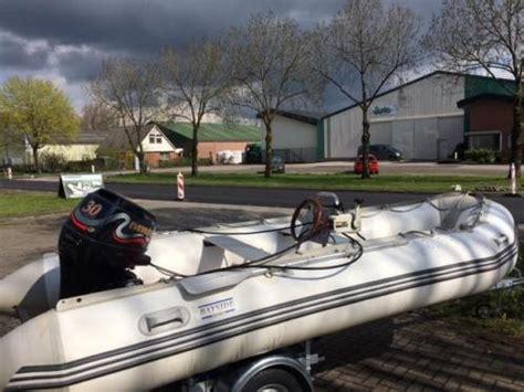 rubberboot met stuur zonder motor rubberboot bayside sport 470 met evinrude 30 pk