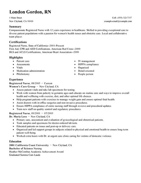 free nursing resume templates all best cv resume ideas