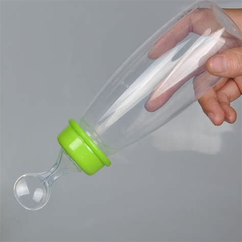 Food Feeder 240 Ml by Infant Baby Silicone Feeding Bottle Food Rice Cereal