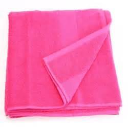 serviette de bain 70 x 130 cm framboise achat