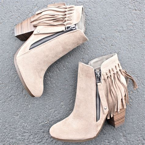 color booties boho fringe ankle booties more colors shophearts
