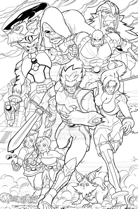 thundercats coloring pages thundercats ho inked by sunny615 on deviantart