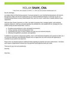 Home Care Assistant Cover Letter by Nursing Aide And Assistant Cover Letter Exles Healthcare Cover Letter Exles Livecareer