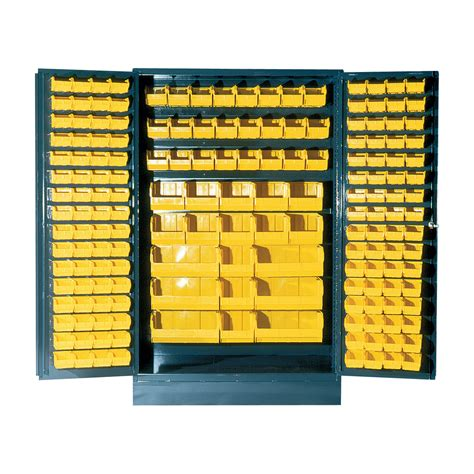 Quantum Storage Cabinet Quantum Storage Cabinet With 171 Bins 48in X 24in X 78in Size Yellow Northern Tool