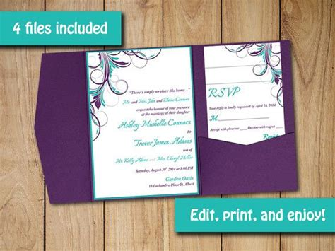pocketfold invitation template 17 best ideas about wedding invitation templates on