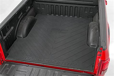 rubber truck bed mats rou rcm640 rough country 15 16 ford f150 bed mat 5 5in