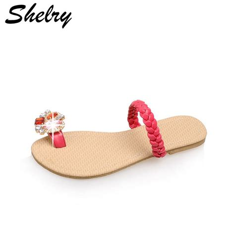 comfortable slippers women slippers 2016 new fashion flat heels red shoes