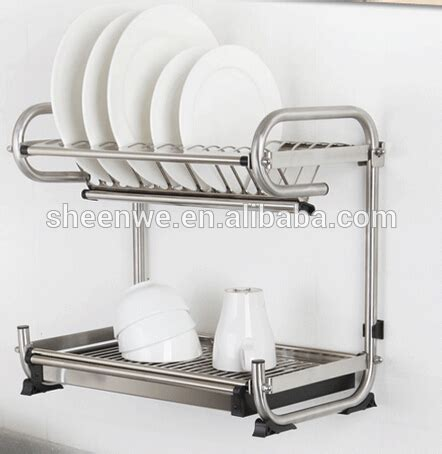 Wall Mounted Stainless Steel Dish Drying Rack by Wdj440 460 Guangzhou Modern Kitchen Designs Stainless Steel Dish Rack Waterproof 2 Tier Wall
