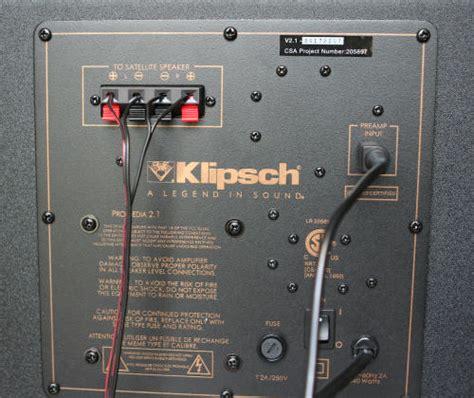 home theater setup  klipsch promedia  speakers