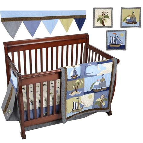 Ahoy Mate Crib Bedding My Baby Sam 5 Nautical Baby Crib Ahoy Mate Crib Bedding