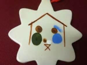 Nativity ornaments homemade fingerprint nativity ornament great to