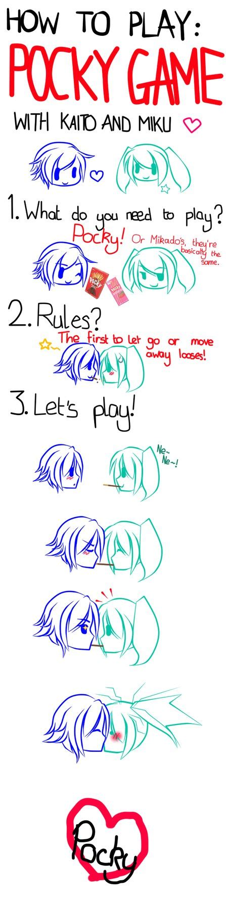 how to play how to play pocky with kaito and miku by
