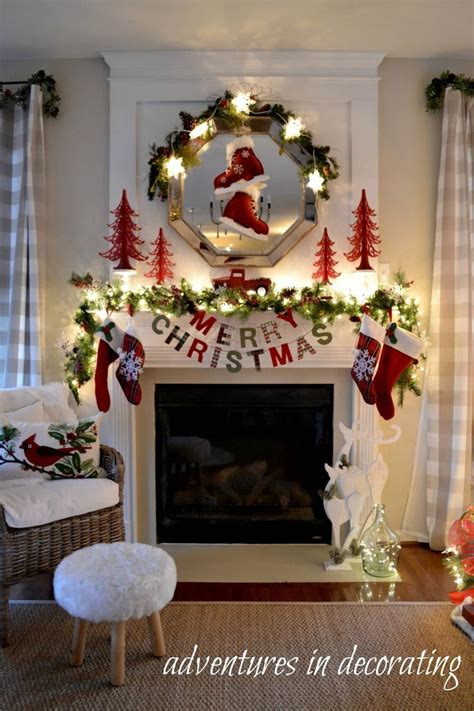 25 best ideas about christmas fireplace decorations on