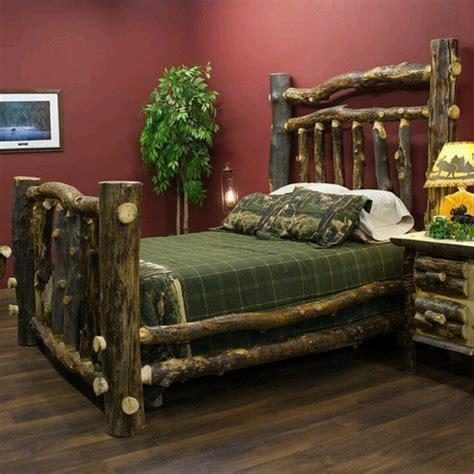 Log Cabin Beds by Rustic Log Bed Cabin Fervor