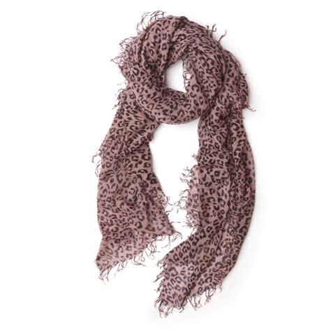 chan luu leopard scarf in pink lyst