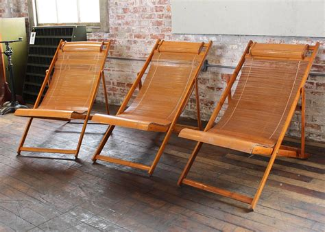vintage bamboo wood japanese deck chairs outdoor fold up