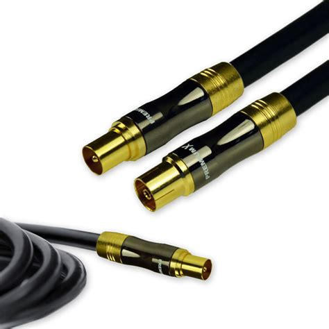 Kabel Antena Tv Digital Analog To 1m High Qulity 10m premiumx gold line tv aerial cable black 135db