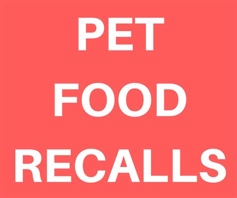 Pet Food Recall by Green Acres Kennel Shop Words Woofs And Meows
